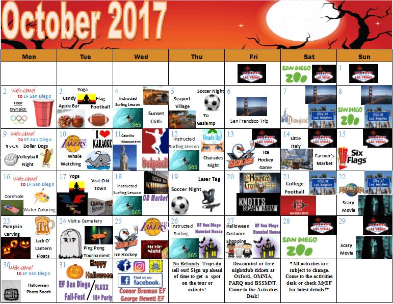 program-activitati-ef-san-diego-octombrie